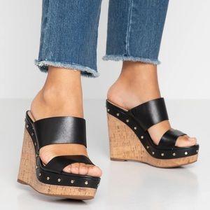 ALDO Wedge heel sandal with studs